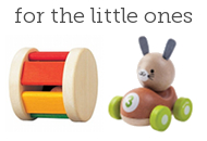 Plan Toys Roller and Plan Toys Bunny Racer