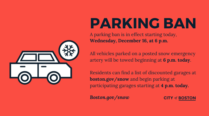 Snow emergency in effect starting at 6 p.m. Wednesday, December 16.